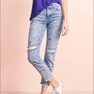 "Alice & Olivia ""girlfriend"" jeans"